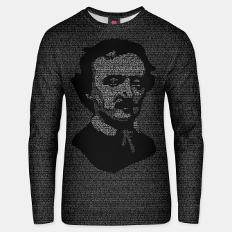 Thumbnail image of Edgar Allan Poe The Raven Typography Portrait Unisex sweater, Live Heroes