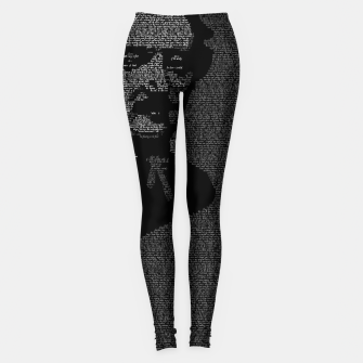 Miniatur Edgar Allan Poe The Raven Typography Portrait Leggings, Live Heroes
