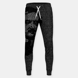 Miniatur Edgar Allan Poe The Raven Typography Portrait Sweatpants, Live Heroes