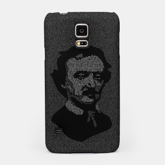 Thumbnail image of Edgar Allan Poe The Raven Typography Portrait Samsung Case, Live Heroes