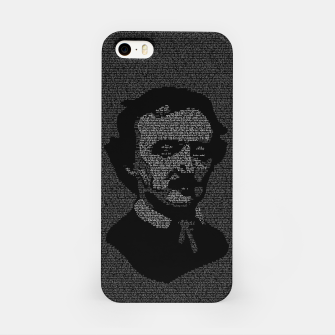 Miniatur Edgar Allan Poe The Raven Typography Portrait iPhone Case, Live Heroes