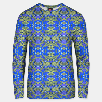 Miniatur Gold and Blue Fancy Ornate Pattern Unisex sweater, Live Heroes