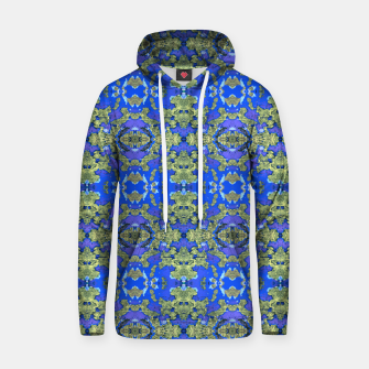 Miniatur Gold and Blue Fancy Ornate Pattern Hoodie, Live Heroes