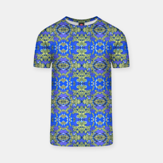 Miniatur Gold and Blue Fancy Ornate Pattern T-shirt, Live Heroes