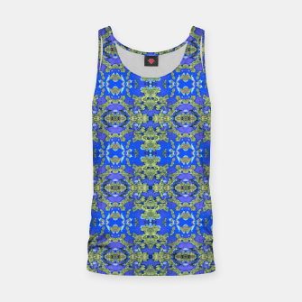 Miniaturka Gold and Blue Fancy Ornate Pattern Tank Top, Live Heroes