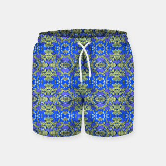 Miniaturka Gold and Blue Fancy Ornate Pattern Swim Shorts, Live Heroes