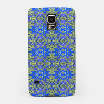 Miniatur Gold and Blue Fancy Ornate Pattern Samsung Case, Live Heroes