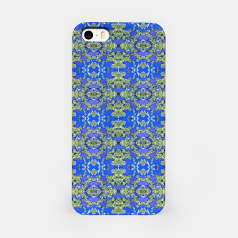 Miniaturka Gold and Blue Fancy Ornate Pattern iPhone Case, Live Heroes