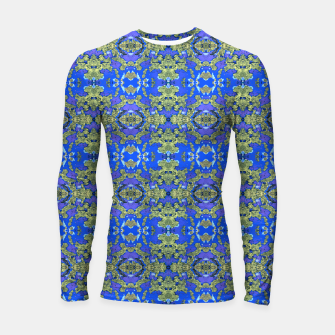 Miniatur Gold and Blue Fancy Ornate Pattern Longsleeve rashguard , Live Heroes