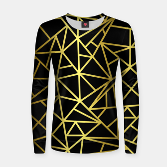 Thumbnail image of Golden Geometric Shapes Women sweater, Live Heroes