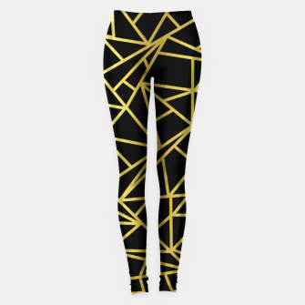 Thumbnail image of Golden Geometric Shapes Leggings, Live Heroes