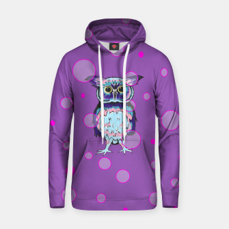 Thumbnail image of Owl Purple Bubbles Hoodie, Live Heroes