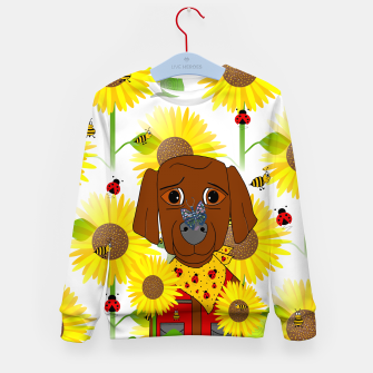 Thumbnail image of Dog Nature Lover Pattern Kid's sweater, Live Heroes