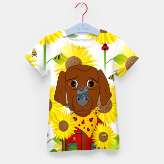 Miniature de image de Dog Nature Lover Pattern Kid's t-shirt, Live Heroes