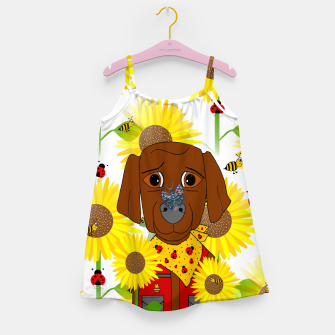 Thumbnail image of Dog Nature Lover Pattern Girl's dress, Live Heroes