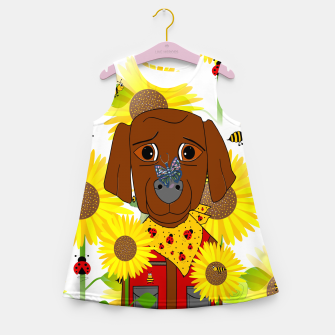 Thumbnail image of Dog Nature Lover Pattern Girl's summer dress, Live Heroes