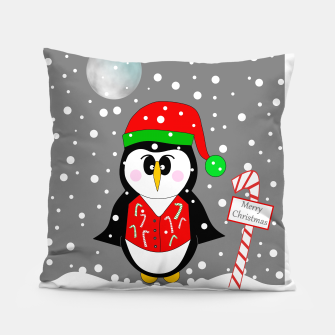 Thumbnail image of Christmas Penguin Pillow, Live Heroes