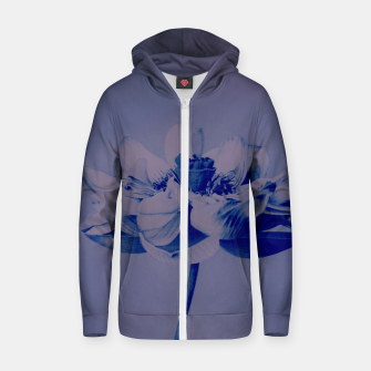 Miniatur Lotus Flower Zip up hoodie, Live Heroes