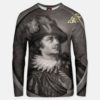 Thumbnail image of Man and Moth Unisex sweater, Live Heroes