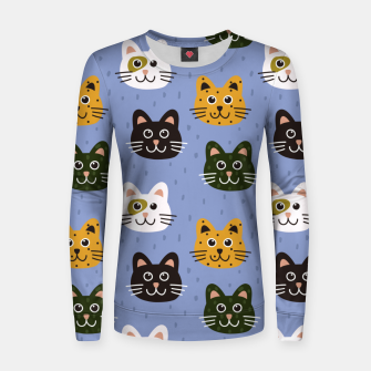 Thumbnail image of Cats Heads Women sweater, Live Heroes