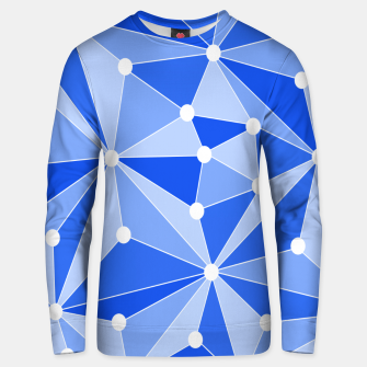 Thumbnail image of Abstract geometric pattern - blue. Unisex sweater, Live Heroes