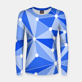Thumbnail image of Abstract geometric pattern - blue. Women sweater, Live Heroes