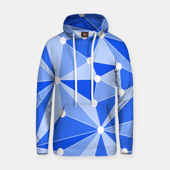 Thumbnail image of Abstract geometric pattern - blue. Hoodie, Live Heroes