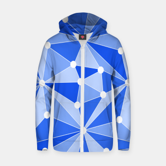 Thumbnail image of Abstract geometric pattern - blue. Zip up hoodie, Live Heroes