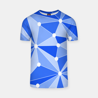 Thumbnail image of Abstract geometric pattern - blue. T-shirt, Live Heroes