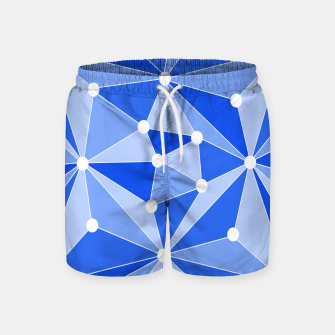 Thumbnail image of Abstract geometric pattern - blue. Swim Shorts, Live Heroes