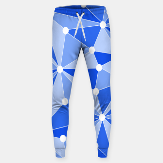 Imagen en miniatura de Abstract geometric pattern - blue. Sweatpants, Live Heroes