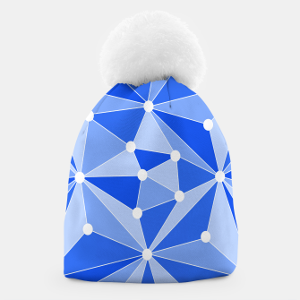 Thumbnail image of Abstract geometric pattern - blue. Beanie, Live Heroes
