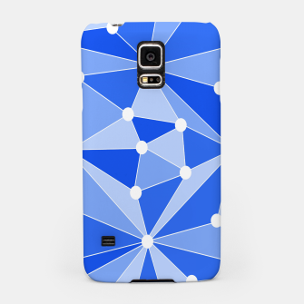Thumbnail image of Abstract geometric pattern - blue. Samsung Case, Live Heroes