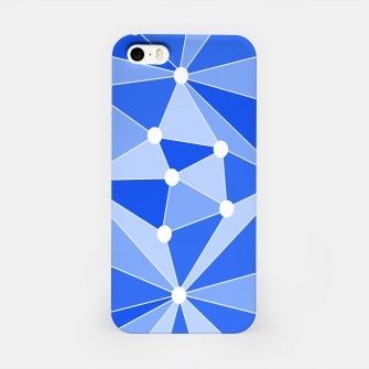 Thumbnail image of Abstract geometric pattern - blue. iPhone Case, Live Heroes