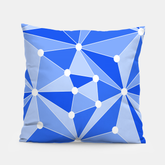 Thumbnail image of Abstract geometric pattern - blue. Pillow, Live Heroes