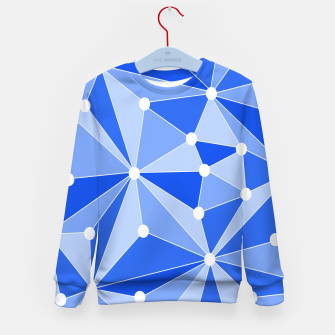 Thumbnail image of Abstract geometric pattern - blue. Kid's sweater, Live Heroes