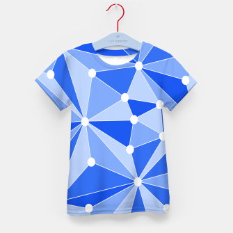 Miniature de image de Abstract geometric pattern - blue. Kid's t-shirt, Live Heroes