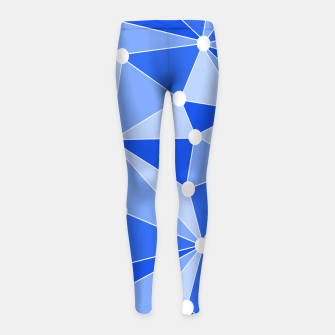 Thumbnail image of Abstract geometric pattern - blue. Girl's leggings, Live Heroes