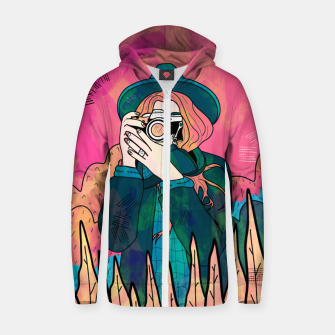 Miniature de image de The space photographer Zip up hoodie, Live Heroes