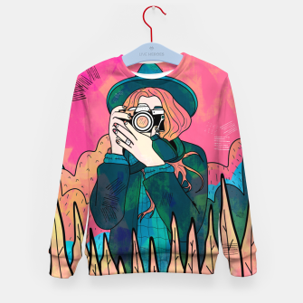 Miniature de image de The space photographer Kid's sweater, Live Heroes
