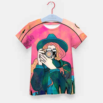 Miniature de image de The space photographer Kid's t-shirt, Live Heroes