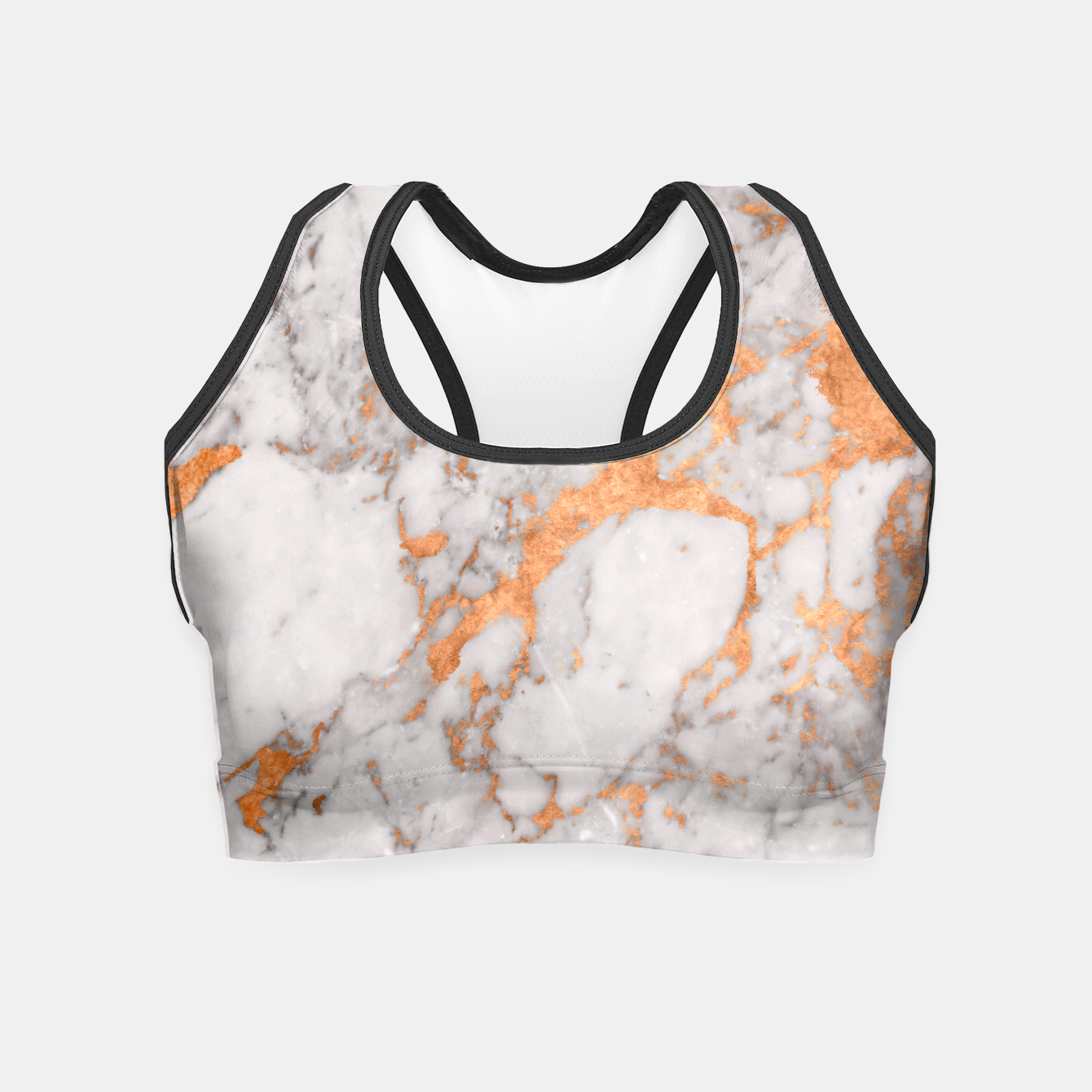 Image of Copper Marble Crop Top - Live Heroes