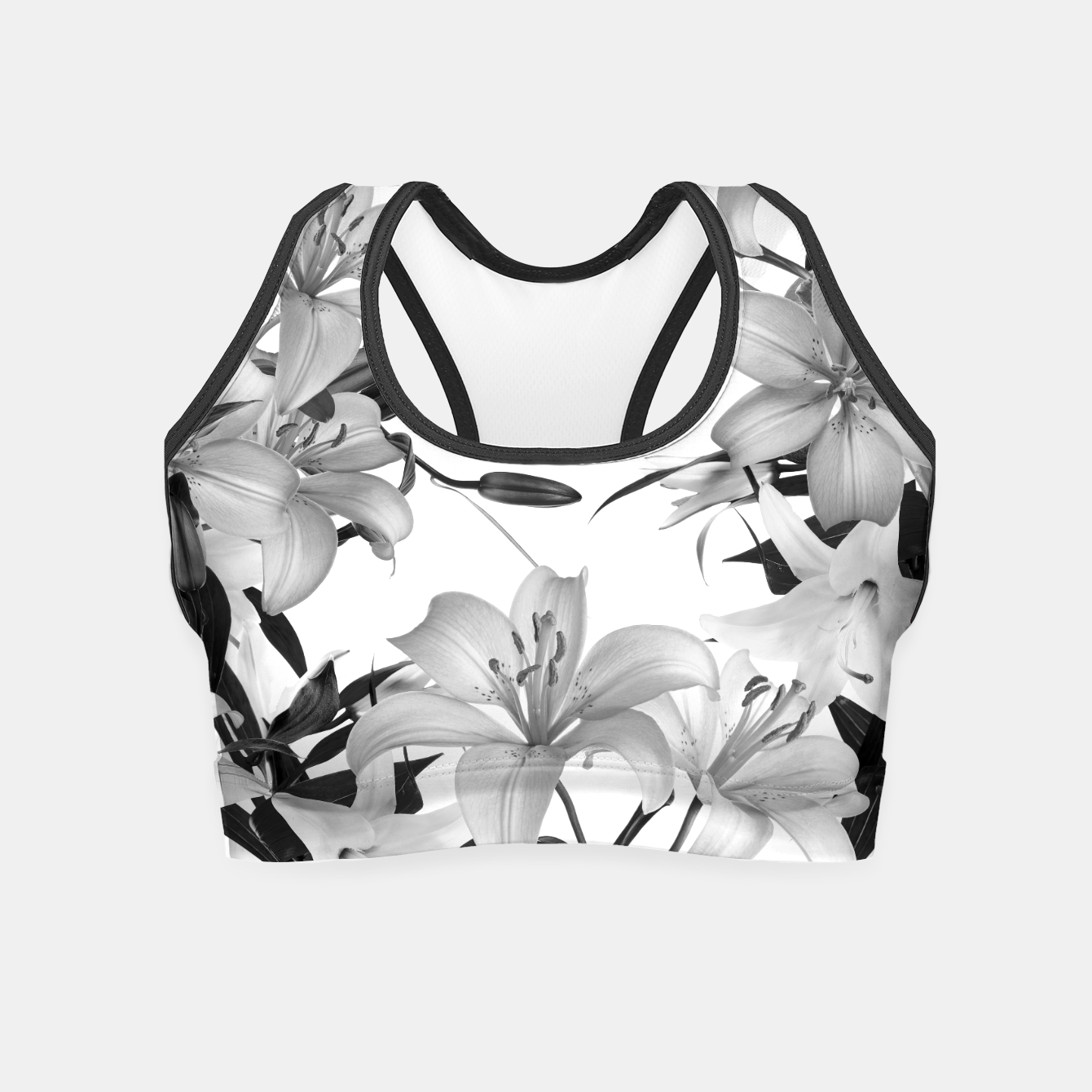 Image of Tropical Lilies Crop Top - Live Heroes