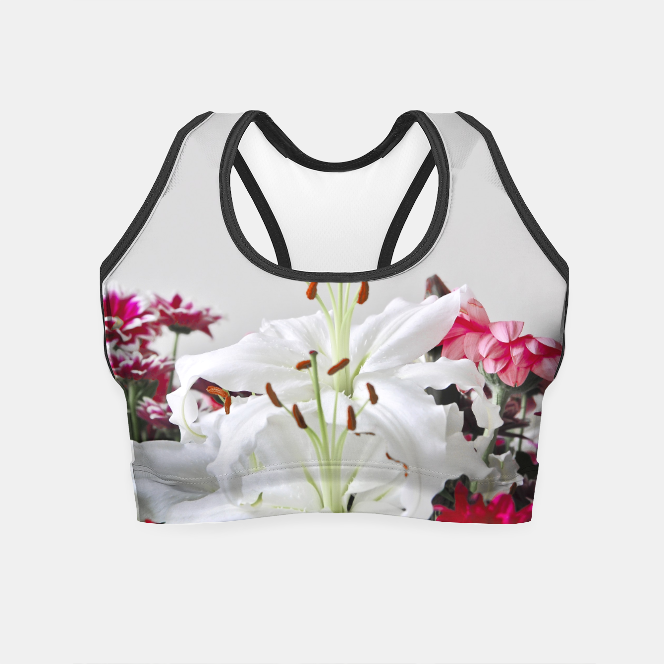 Image of Pretty Lilies Crop Top - Live Heroes