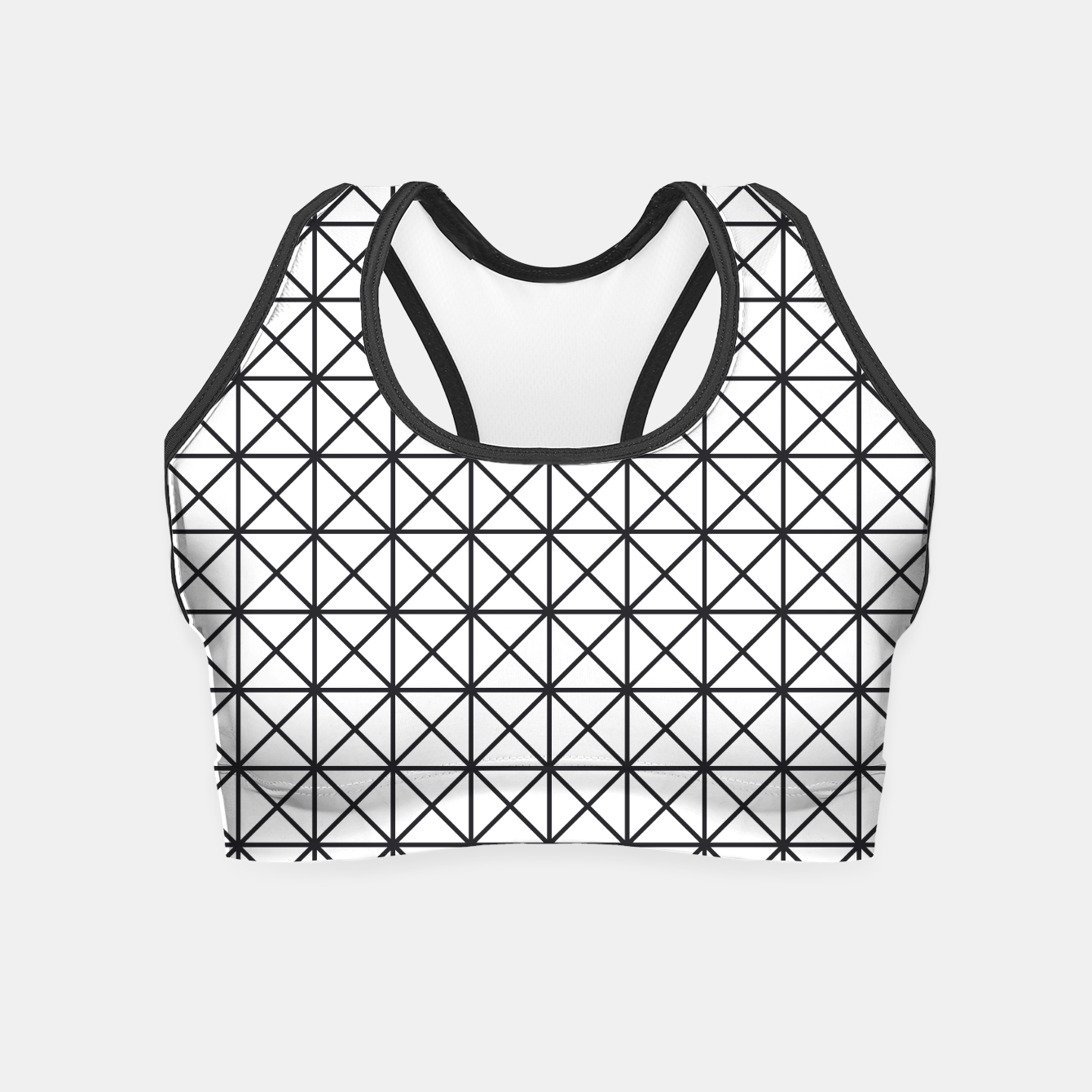 Image of Prism Pattern Optical Illusion Crop Top - Live Heroes