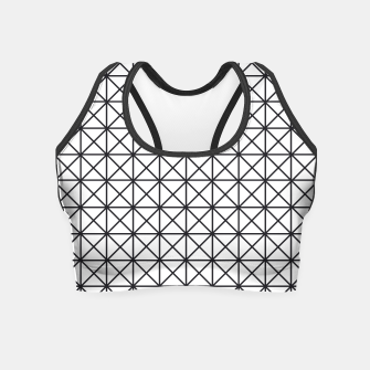 Thumbnail image of Prism Pattern Optical Illusion Crop Top, Live Heroes