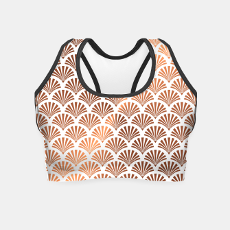 Thumbnail image of Art Deco Shells Pattern Crop Top, Live Heroes