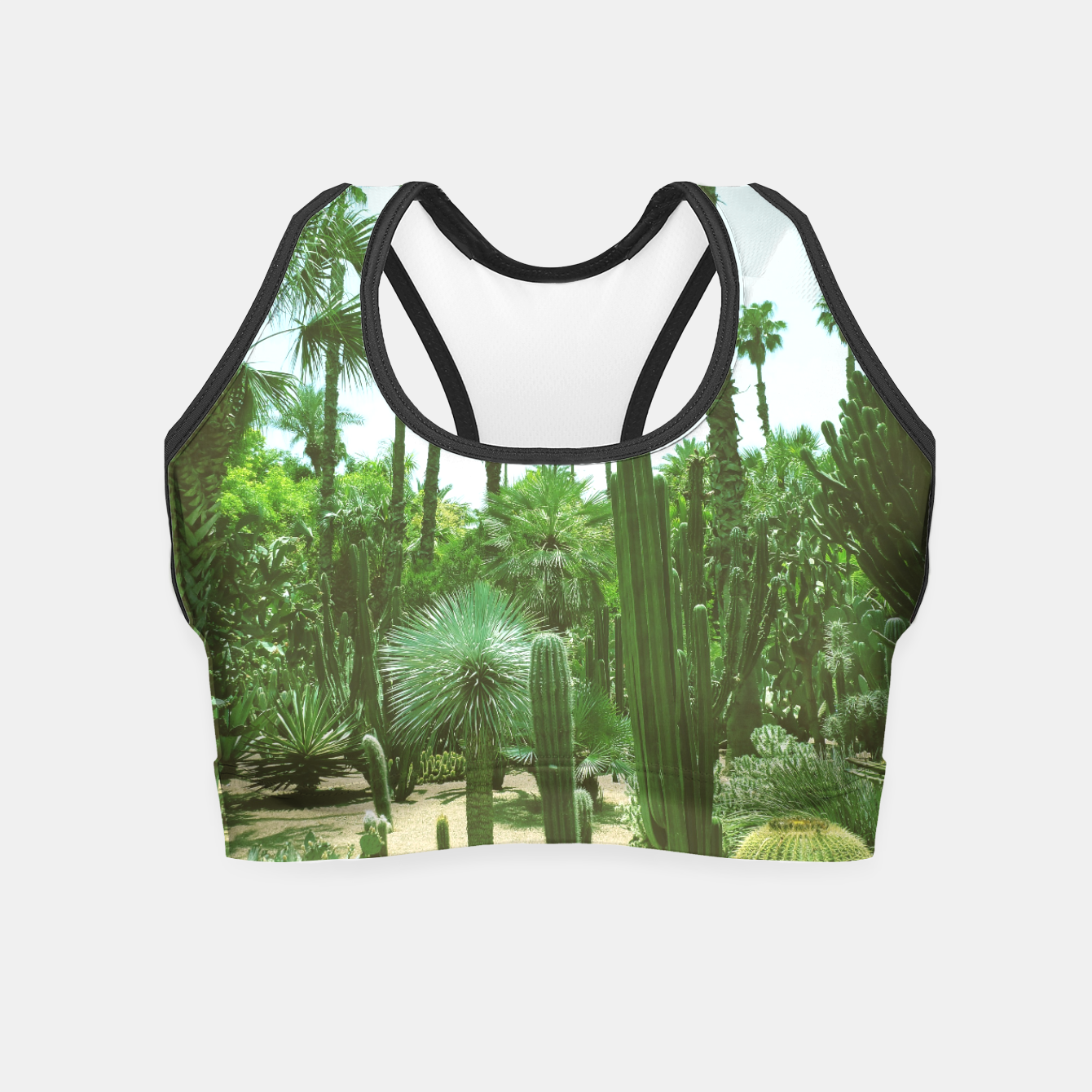 Image of Tropical Cacti Gardens and Greenery Crop Top - Live Heroes