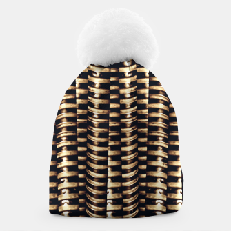 Thumbnail image of Modern Tech Stripes Print Beanie, Live Heroes