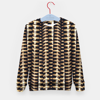 Miniaturka Modern Tech Stripes Print Kid's sweater, Live Heroes